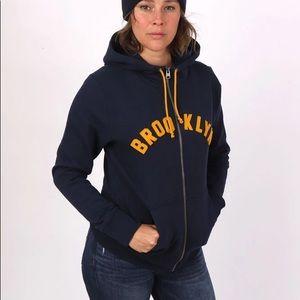 Brooklyn Industries Zip Up Fleece Jacket